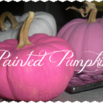 Painted Pumpkins make an easy Fall Craft