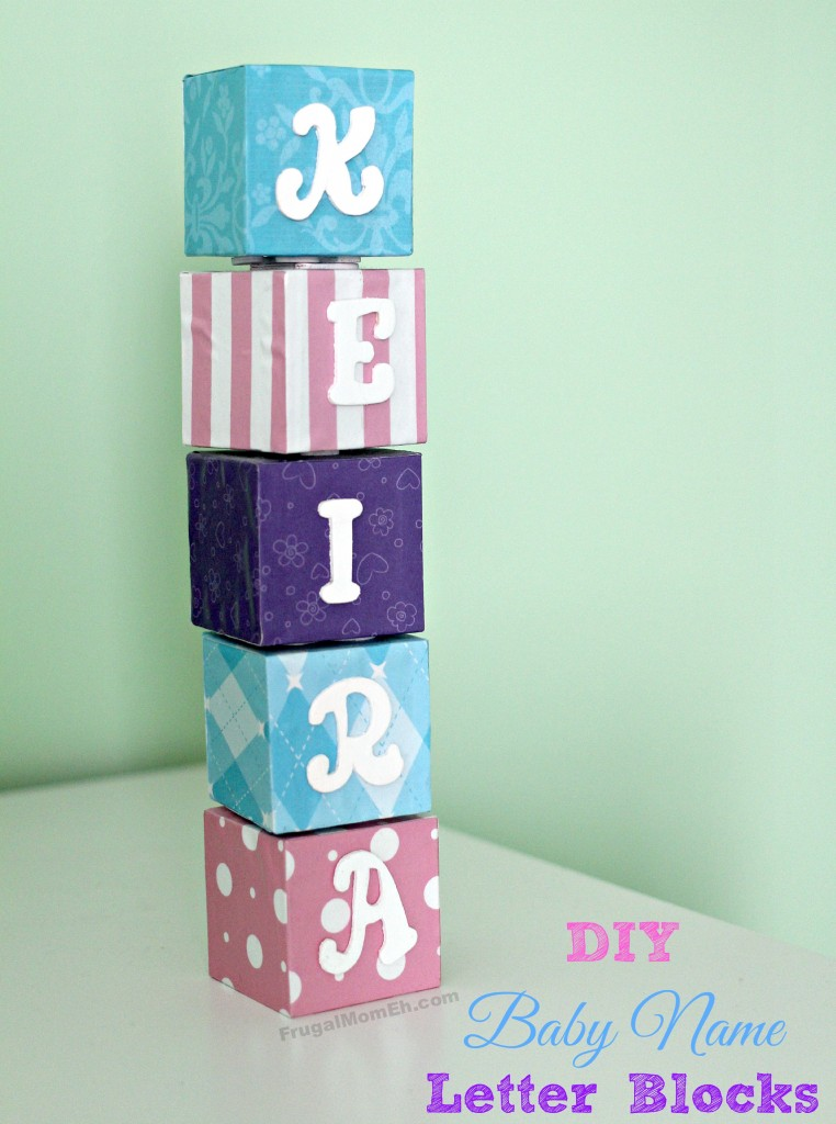 Baby Name Letter Blocks