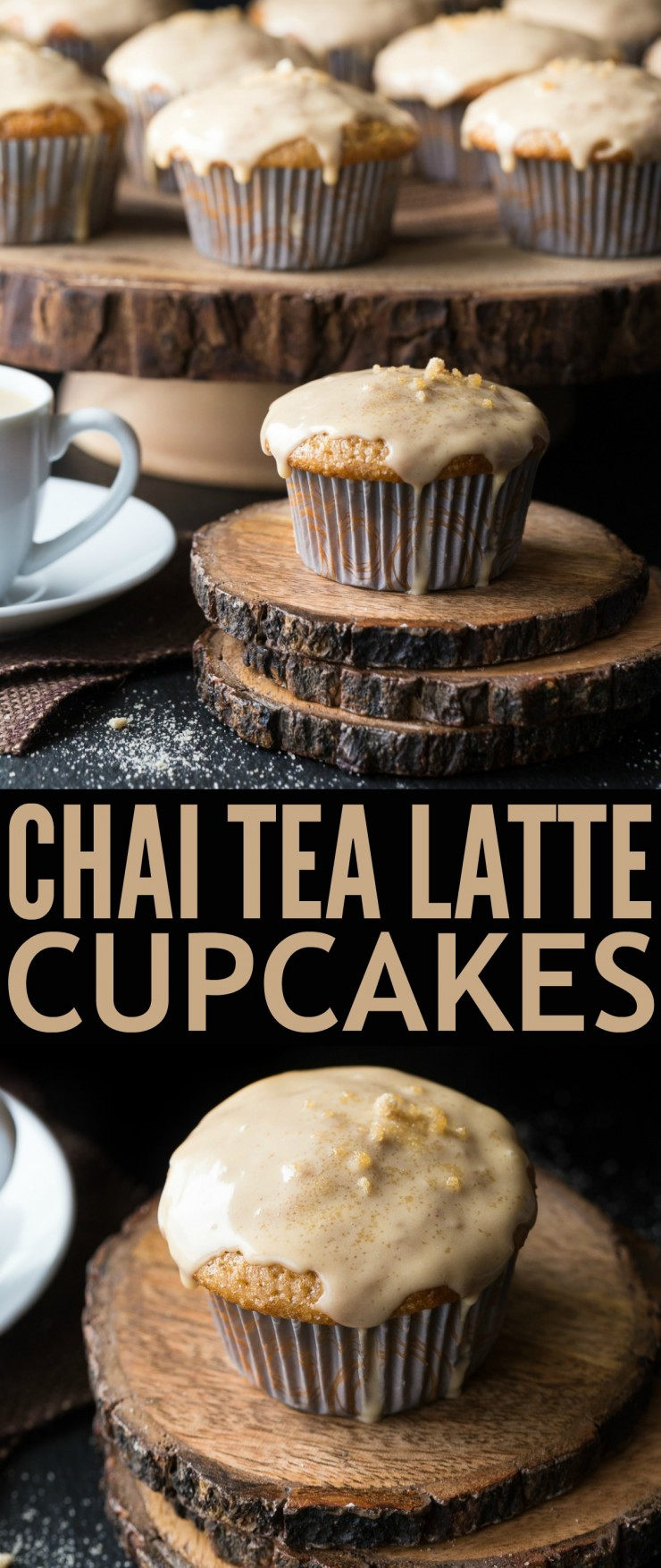 These Chai Tea Latte Cupcakes are deliciously sweet with just a hint ...
