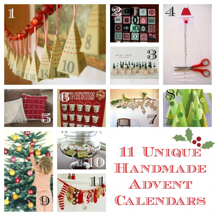 11 Unique Handmade Advent Calendars