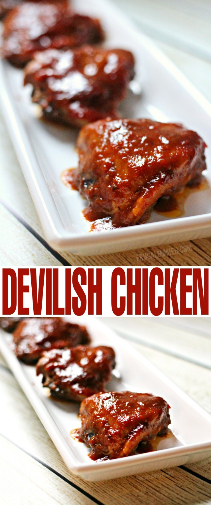 Devilish Chicken is a family favourite recipe. It's quick and easy to throw together and full of flavour. Serve with plain rice and spoon sauce over it.