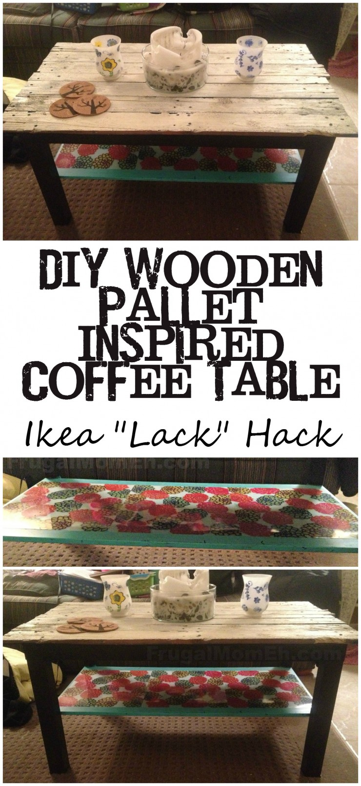 DIY Wooden Pallet Inspired Coffee Table