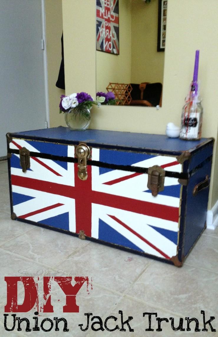 union jack furniture. DIY Union Jack Trunk Furniture U