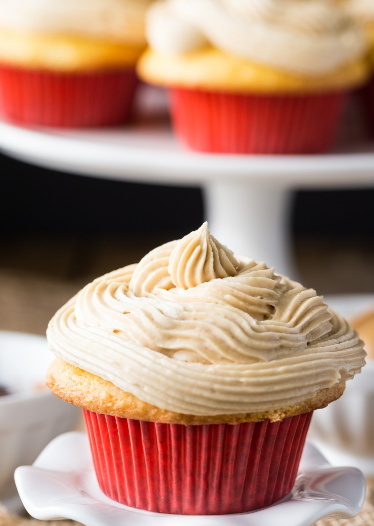 These Peanut Butter & Jelly Cupcakes turn a classic sandwich into an easy to make and very nostalgic cupcake. Perfect for all the pb & j lovers out there!