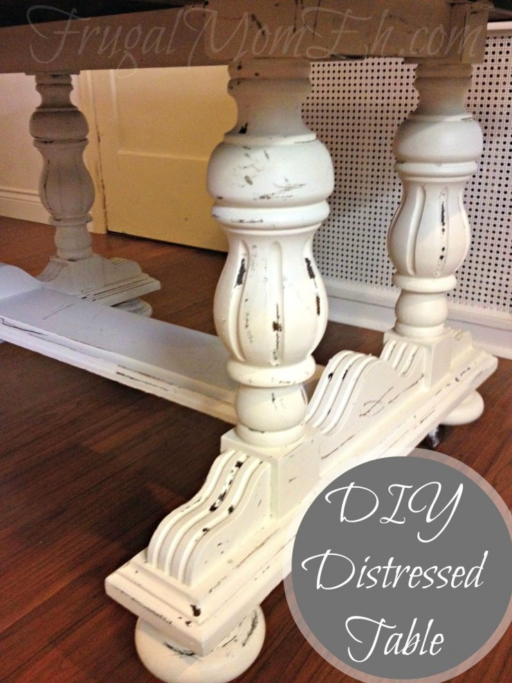 This DIY Distressed Table Tutorial will show you how to give any wood furniture a real vintage look!
