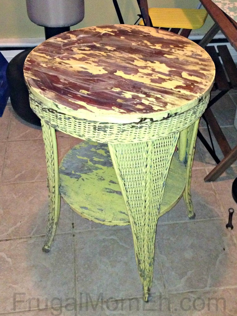DIY Antique Wicker Table Restoration Tutorial