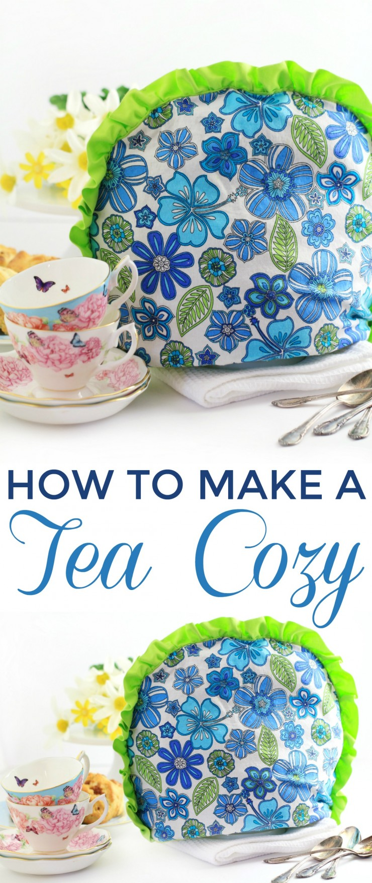 Learn how to Make a Tea Cozy with this simple diy sewing tutorial that will help you make your own Tea Cozy pattern to fit your tea pot!