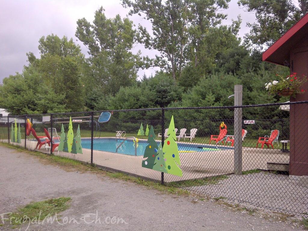 Pool at Santa's Whispering Pines Campground
