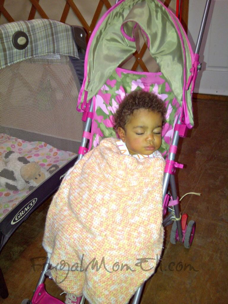 Asleep in Stroller