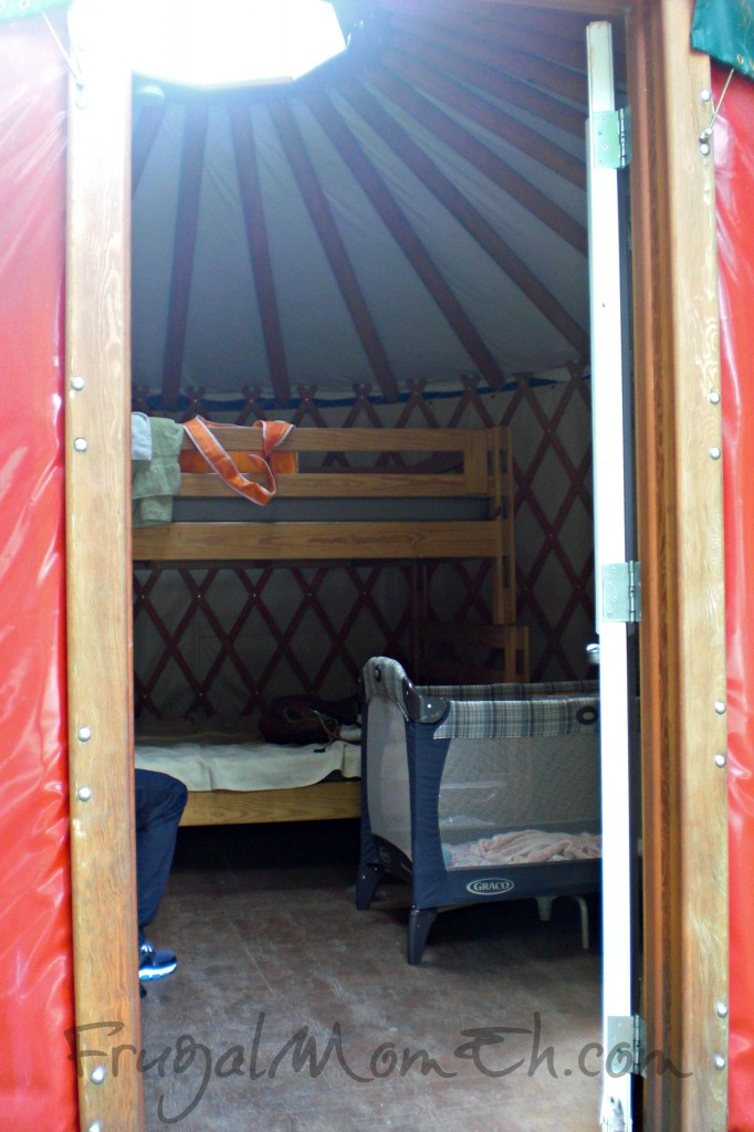 Inside of Yurt at Santa's Whispering Pines Campground