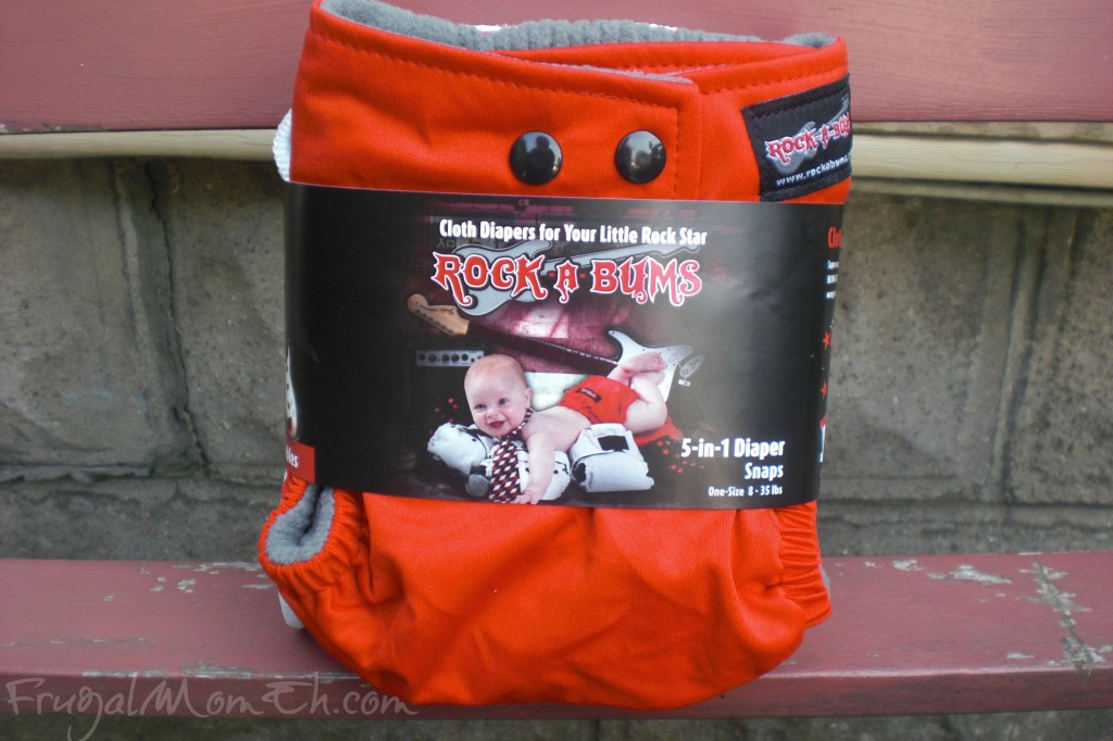 Rock-a-Bums Red Cloth Diaper