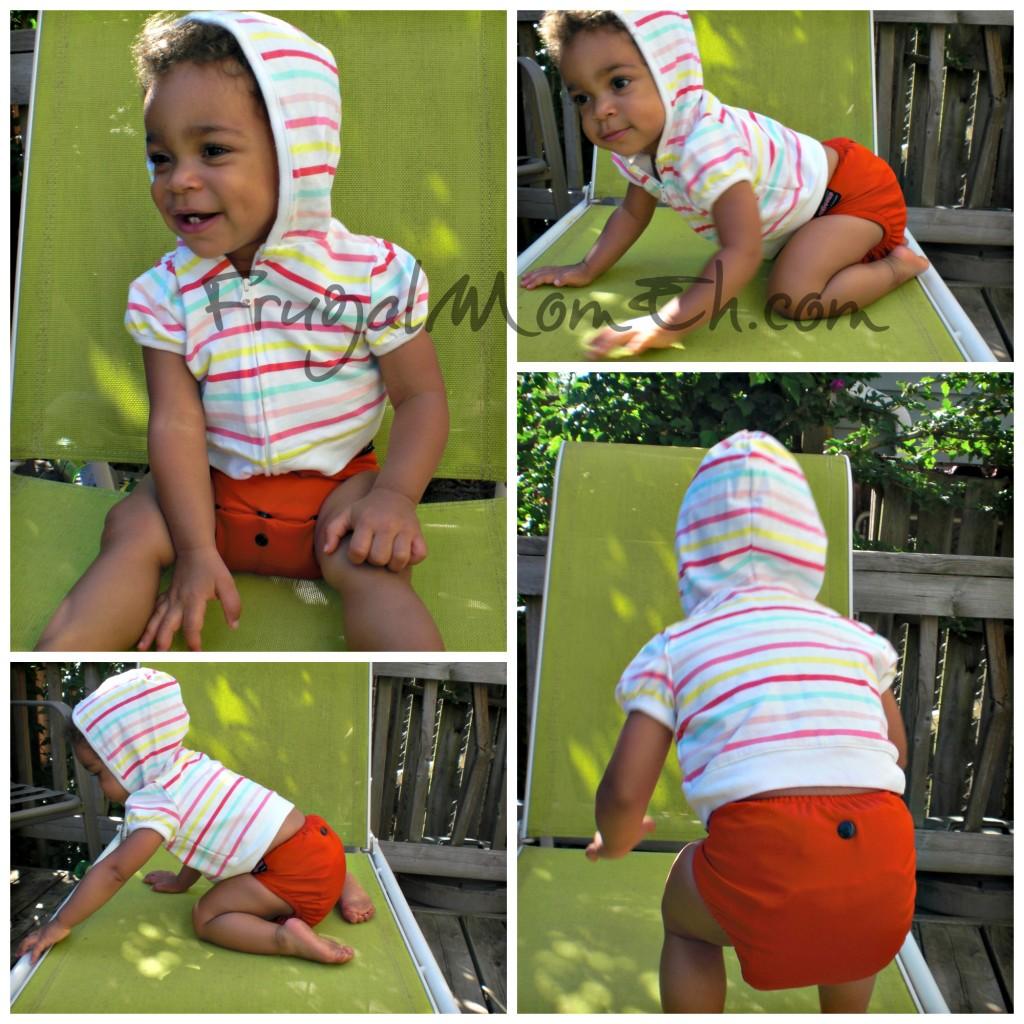 Rock-a-Bums Red Cloth Diaper