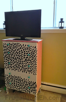 DIY Dresser Makeover with Fabric from Ikea