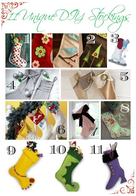 11 Unique DIY Stockings