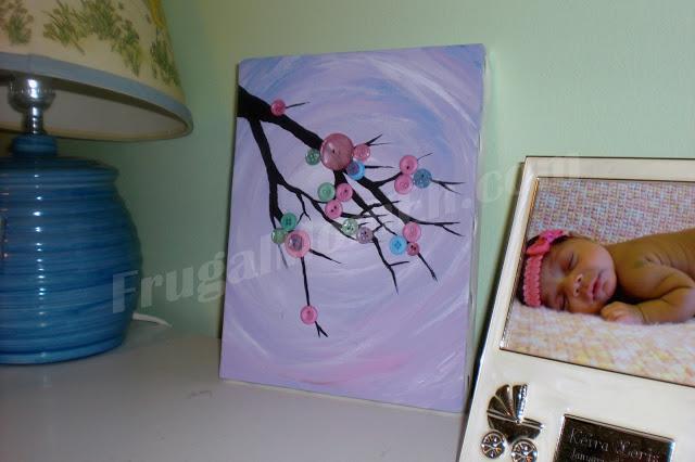 Button Tree Nursery Art Tutorial