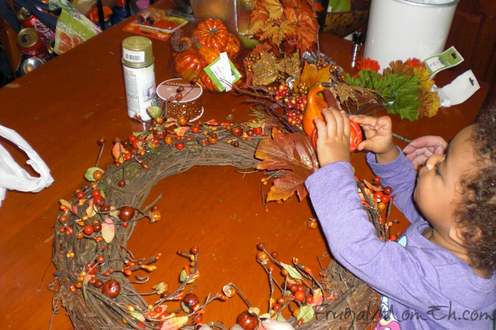 Making a Thanksgiving Wreath