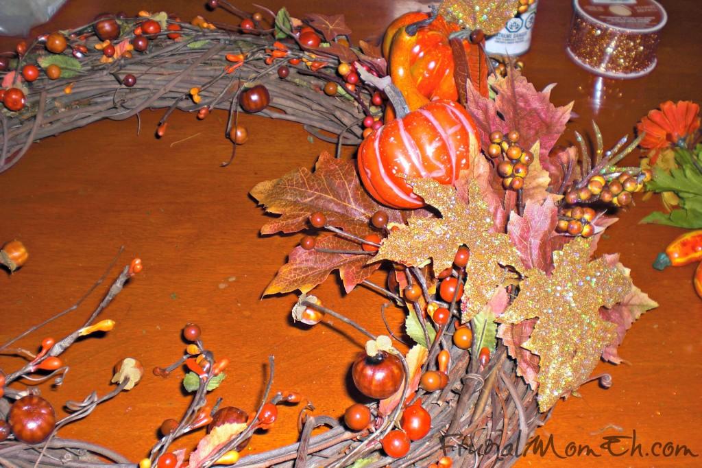 Making a Thanksgiving Wreath