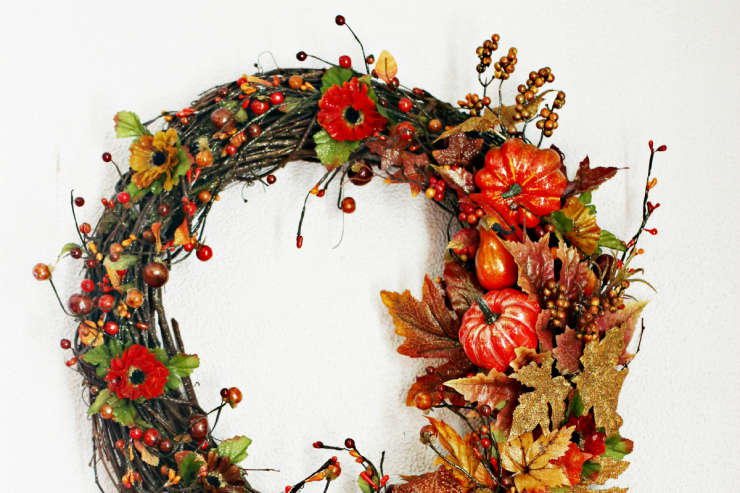 Autumn Harvest Thanksgiving Wreath
