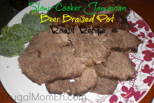 Slow-Cooker Jamaican Beer Braised Pot Roast Recipe #cbias at The Beer Store