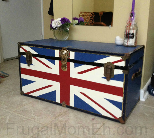 DIY Union Jack Trunk