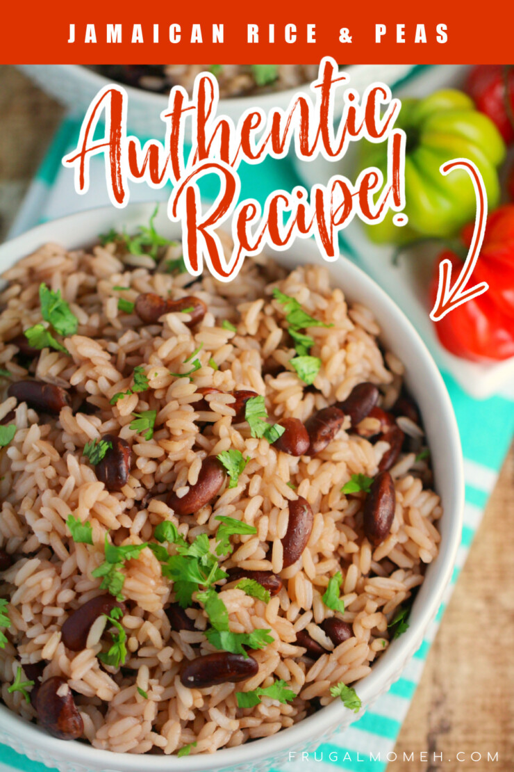 This Jamaican Rice and Peas recipe is an authentic recipe for a popular side dish to most Jamaican meals. This traditional recipe uses fragrant thyme and coconut for a rice that is full of flavour!