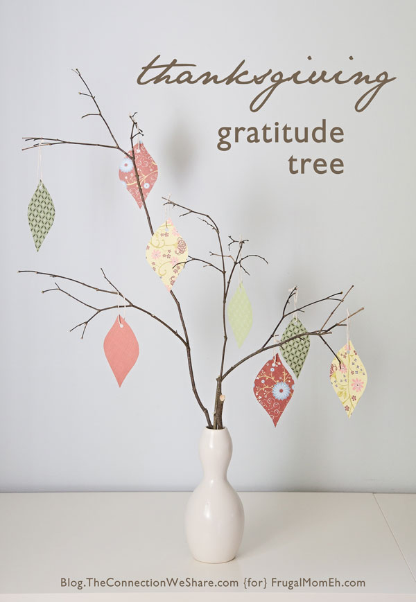 Thanksgiving celebrations make a gratitude tree frugal for Kids craft table canada