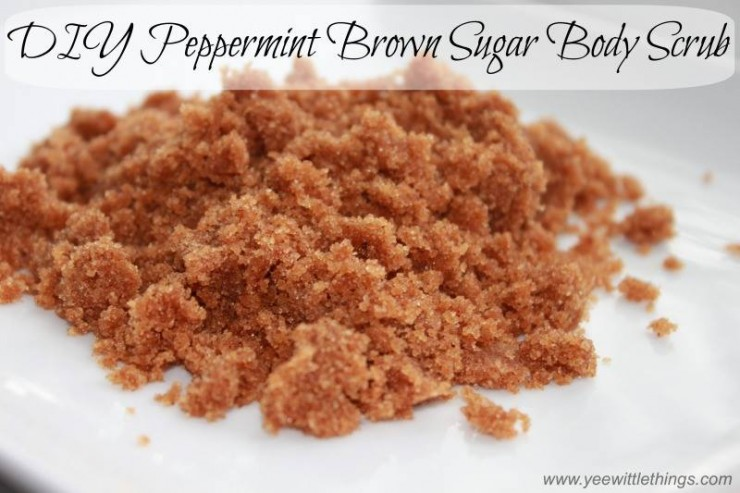DIY Peppermint Brown Sugar Body Scrub