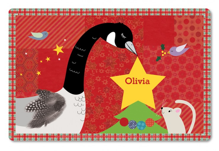 The Star On The Tree Personalized Placemat