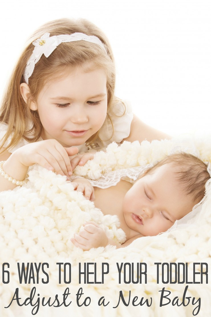 6 Ways to Help Your Toddler Adjust to a New Baby.  These are great tips for new parents bringing home their second (or more!) newborn baby girl or baby boy..