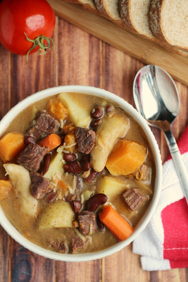 Jamaican Pumpkin Beef Soup - Frugal Mom Eh!