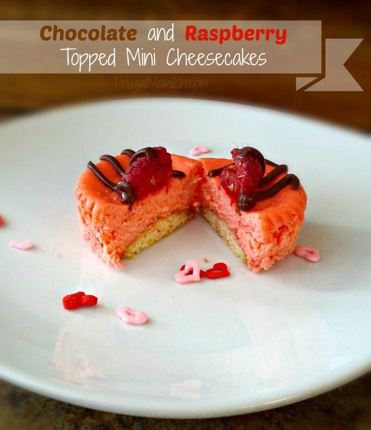 Chocolate and Raspberry Topped Mini Cheesecakes
