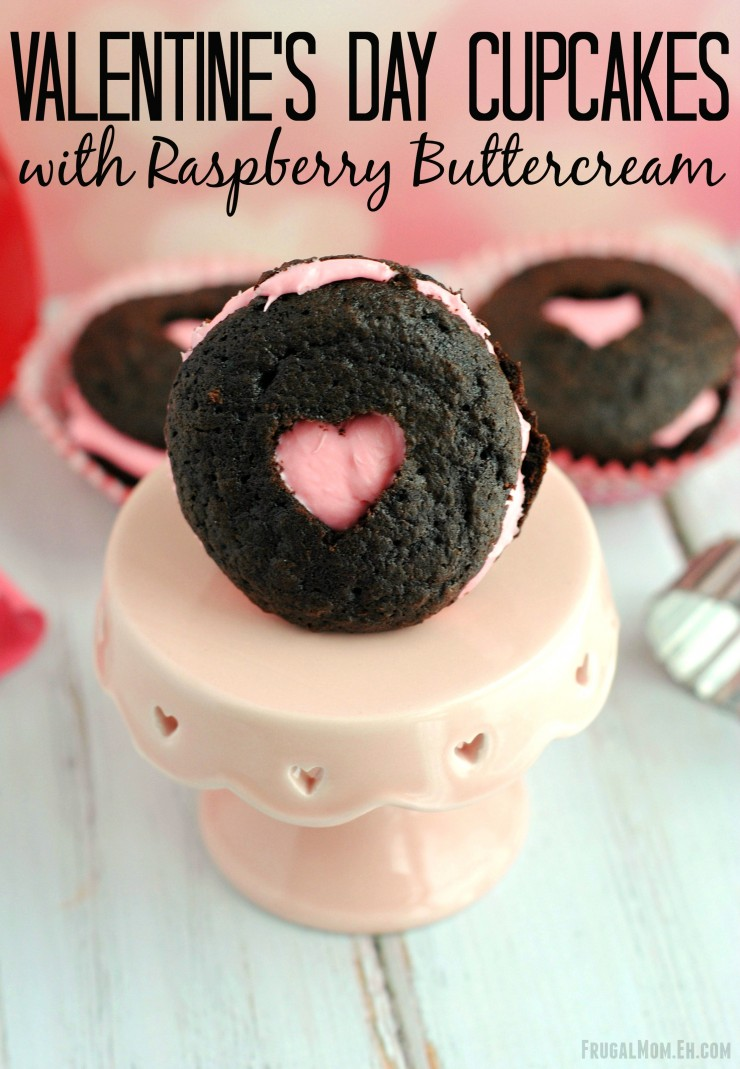 These Valentines Day Cupcakes with Raspberry Buttercream are a cute and delicious Valentine's Day Dessert perfect for the young to the old.
