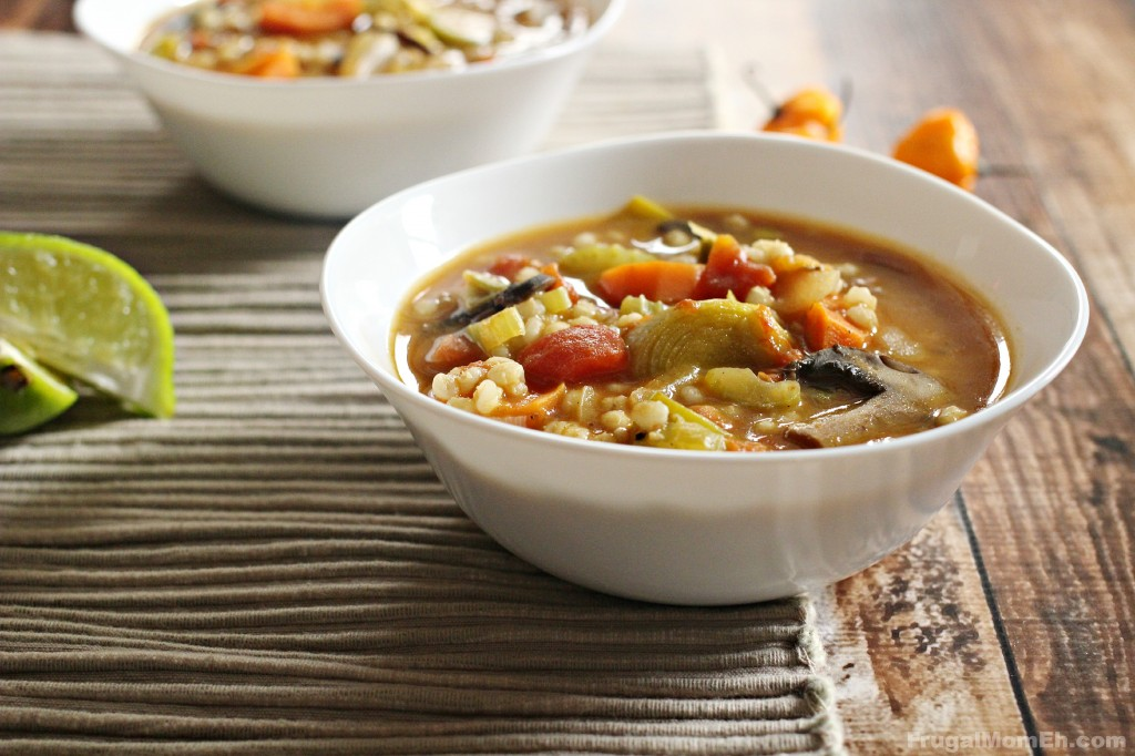 There is nothing better than a steaming hot bowl of homemade spicy barley and vegetable soup on a cold winter day. This is a favourite family recipe.
