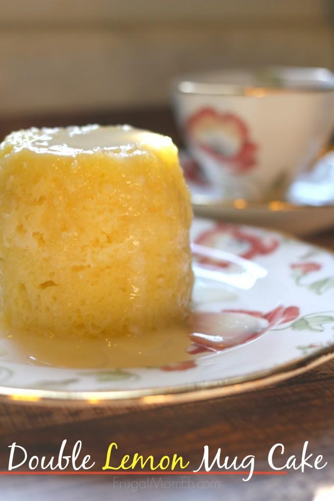 Double Lemon Mug Cake