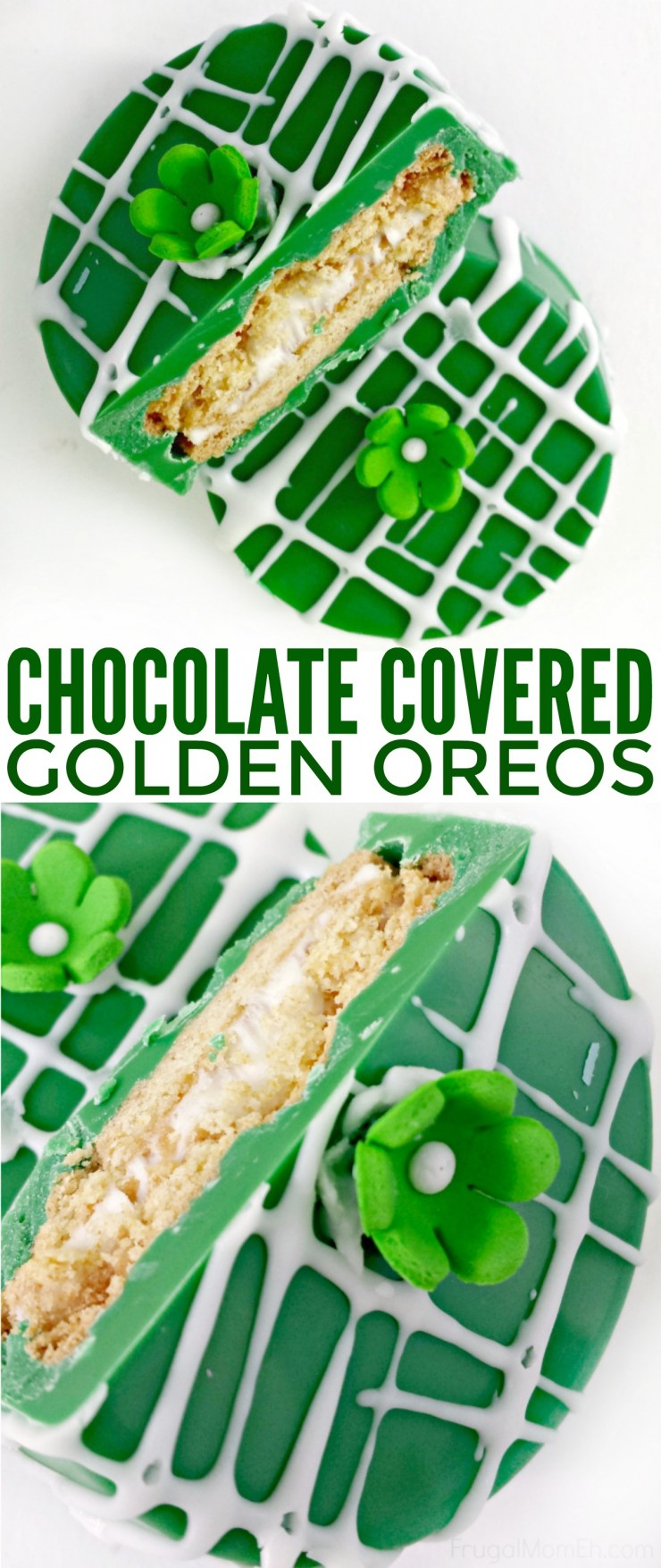 Sometimes it's super nice to have festive treats on hand, such as these Chocolate Covered Golden Oreos for St. Patrick's Day, that look impressive to guests but are really just fuss free and easy to throw together.