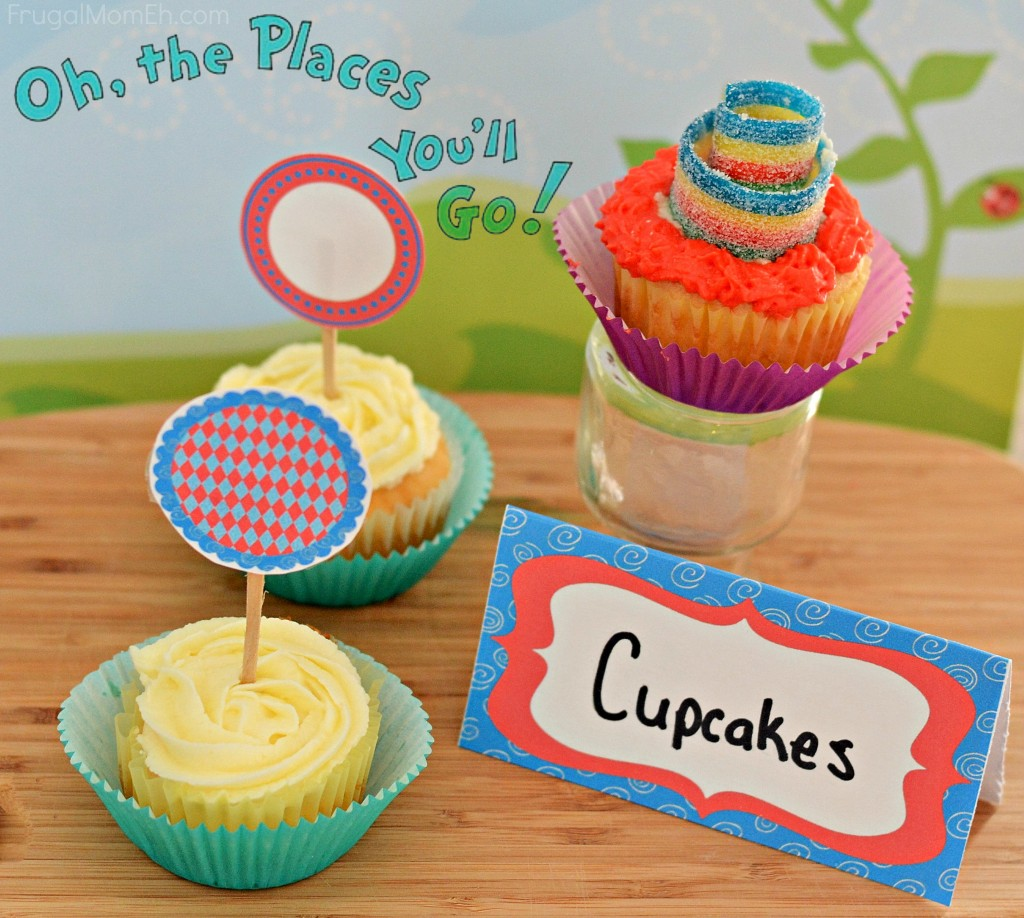Oh the Places You'll Go Cupcakes
