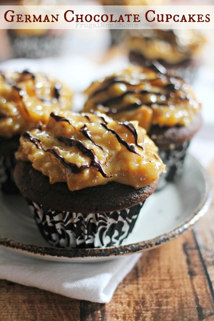 German Chocolate Cupcakes - Frugal Mom Eh!