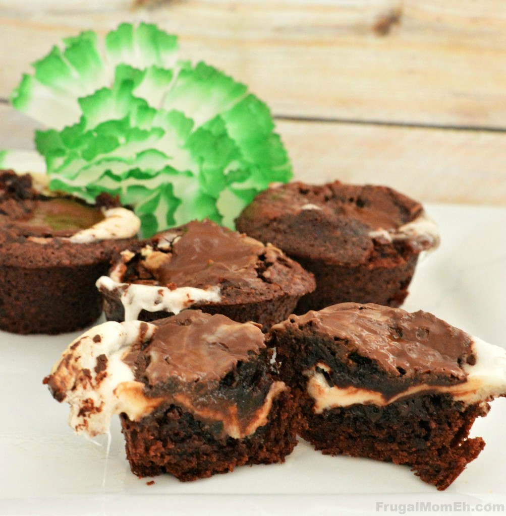 Double Mint Gooey Chocolate Brownies