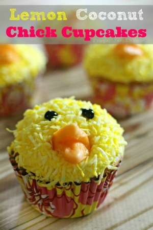 Lemon Coconut Chick Cupcake
