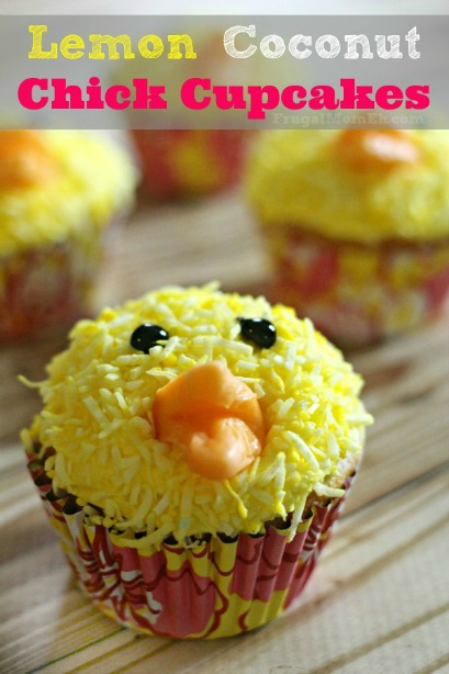 Lemon Coconut Chick Cupcakes
