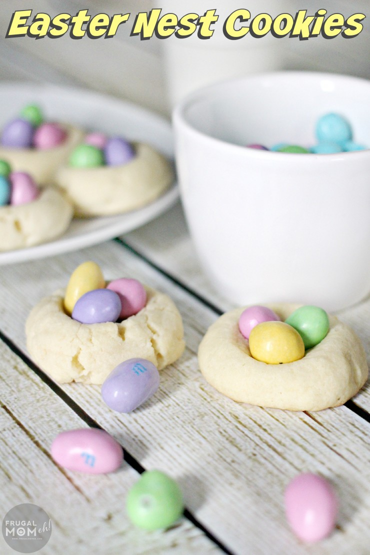 These Easter Nest Cookies are a fun Easter twist on thumbprint cookies that kids and adults will enjoy alike!