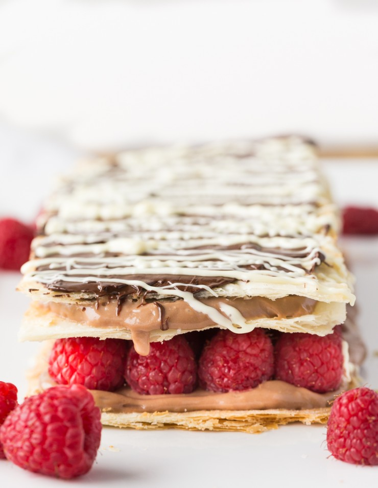 Chocolate and Raspberry Napoleon - Frugal Mom Eh!
