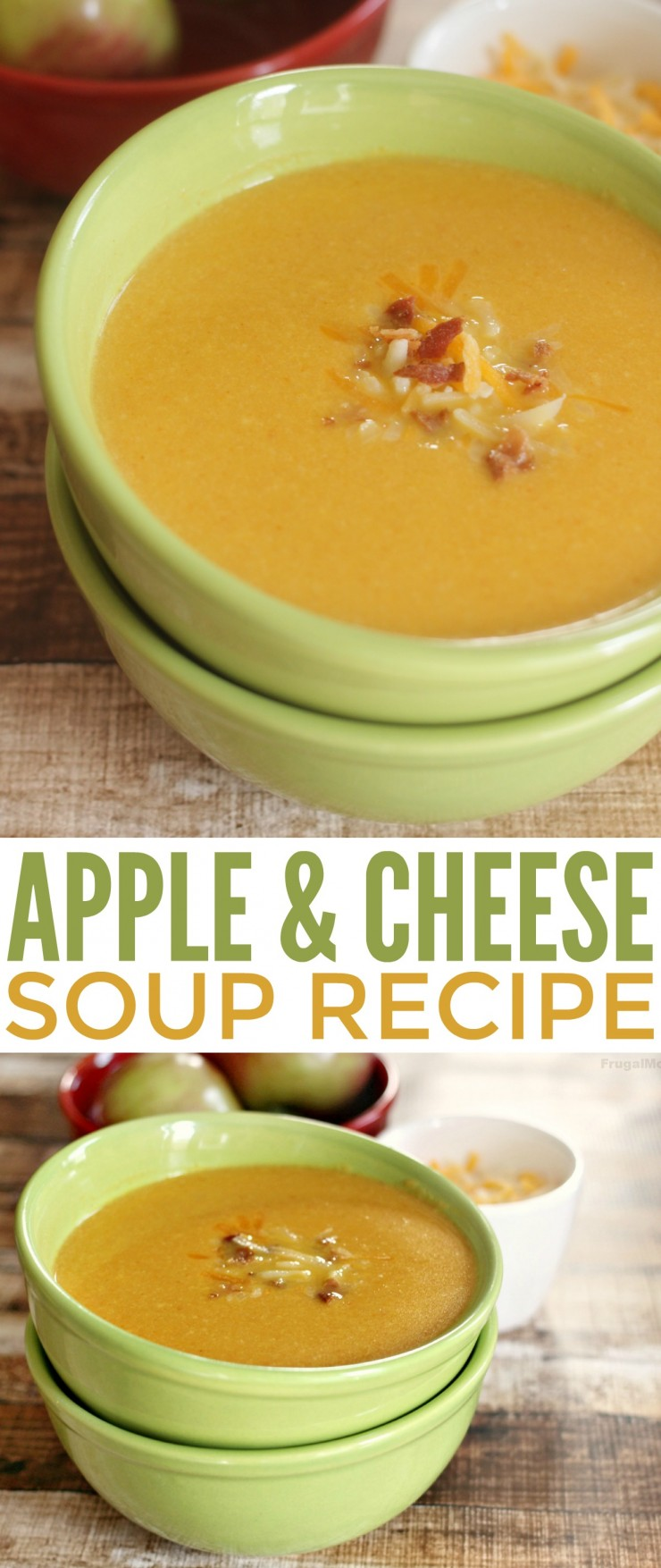 This Apple & Cheese Soup is a savoury soup with a hint of sweet that is perfect for an autumn dinner. This soup recipe can easily be made vegetarian too.