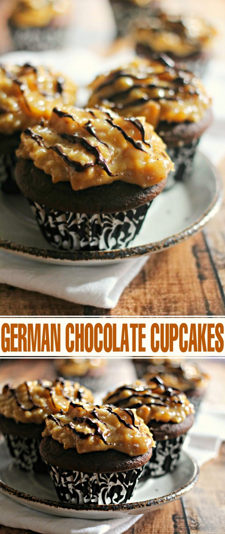 German Chocolate Cupcakes are a delicious chocolate dessert, you will find yourself baking this cupcake recipe over and over again!