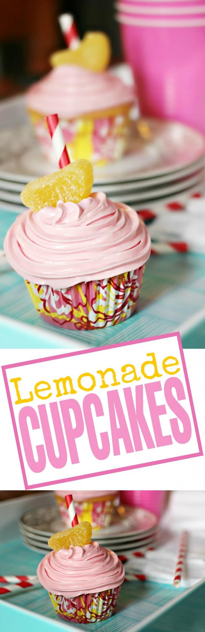 Aren't these Pink Lemonade Cupcakes super cute? This recipe makes a luscious lemon flavoured cupcake.