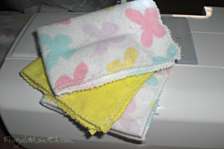 How to Make Homemade Flannel Baby Wipes
