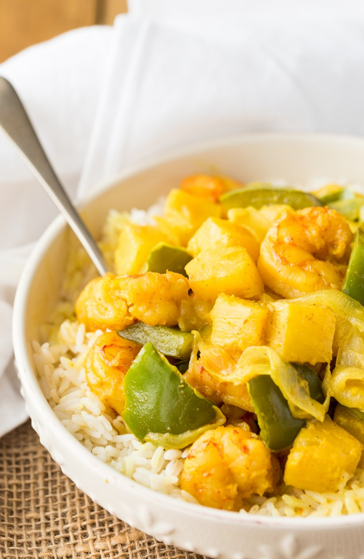 This Curry Shrimp with Pineapple is perfect for any time of year and it has serious flavour and a wonderful creamy texture. Perfect for family dinner or serving guests, this is a no-fuss meal that can be whipped up quickly.