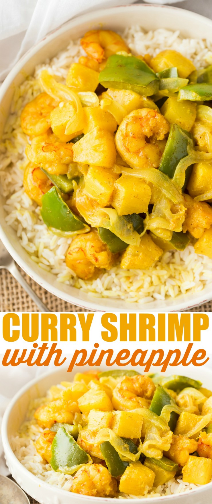 Curry Shrimp with Pineapple is a fun tropical take on curry for a real exotic flavour! This Curry Shrimp with Pineapple is perfect for any time of year and it has serious flavour and a wonderful creamy texture. Perfect for family dinner or serving guests, this is a no-fuss meal that can be whipped up quickly.