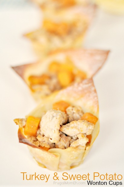 Turkey Sweet Potato Wonton Cups
