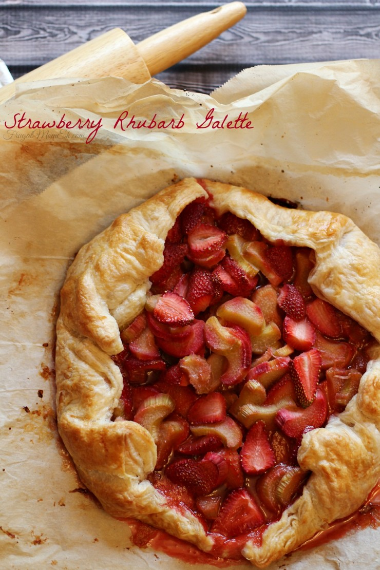 This Strawberry Rhubarb Galette is a perfect summer dessert full of ...